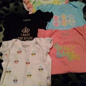 Infant Girl Onesies 5pk